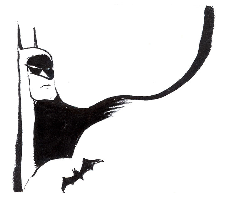 batman - brush pen