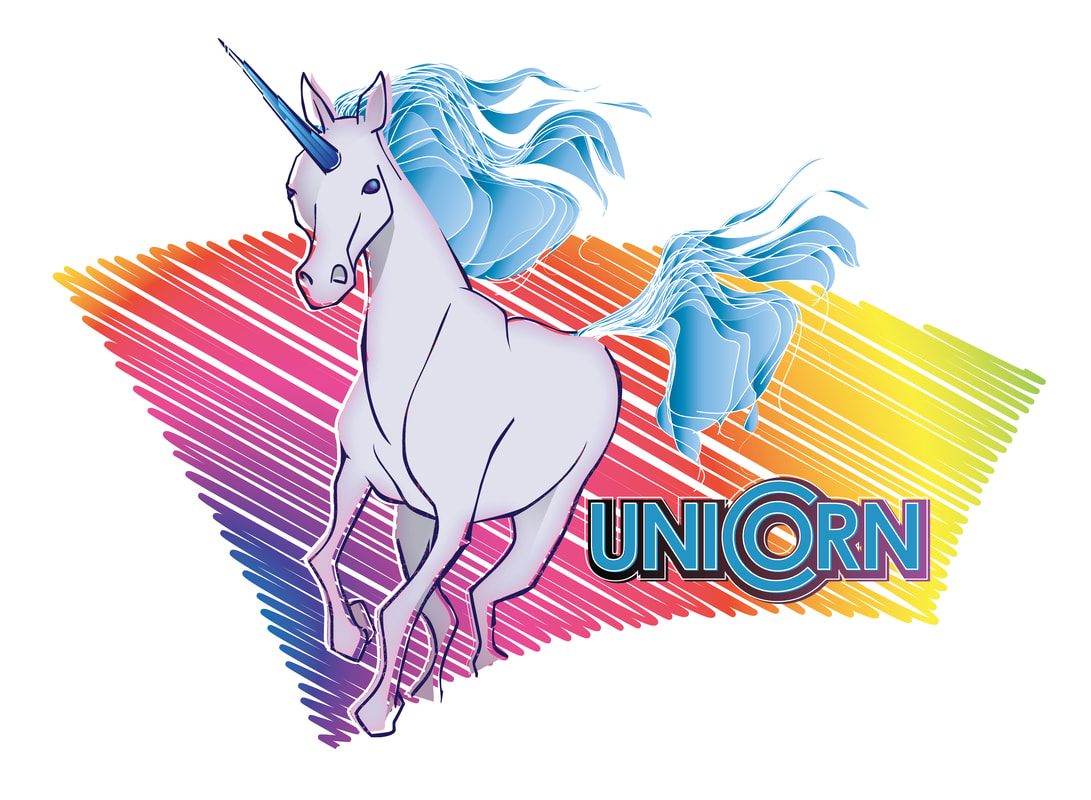 jamie's unicorn - flash, illustrator
